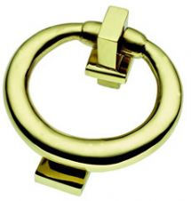 Ring Knocker in POLISHED BRASS